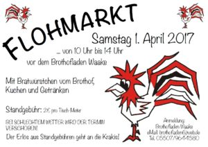 Brothof-Flohmarkt am 1. April 2017